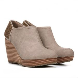 Dr. Scholl's Shoes - NWOT or box Dr. Scholl's Harlow Taupe Wedge Bootie